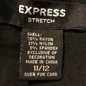 Express Dresses - Express Black Dress Detachable Straps,11/12